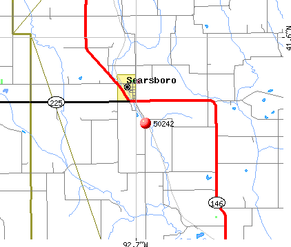 Searsboro, IA (50242) map