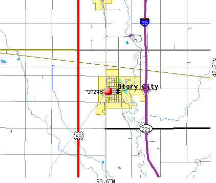 Story City, IA (50248) map