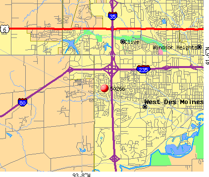West Des Moines, IA (50266) map