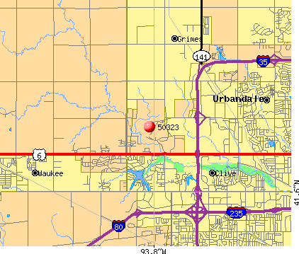 Urbandale, IA (50323) map