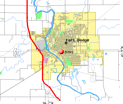 Fort Dodge, IA (50501) map