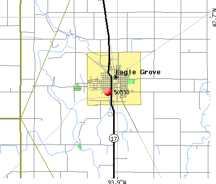 Eagle Grove, IA (50533) map