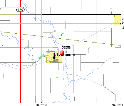 Livermore, IA (50558) map