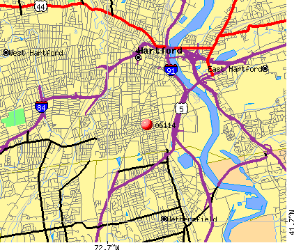 Hartford, CT (06114) map