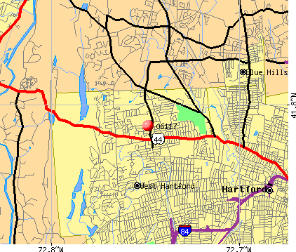 West Hartford, CT (06117) map