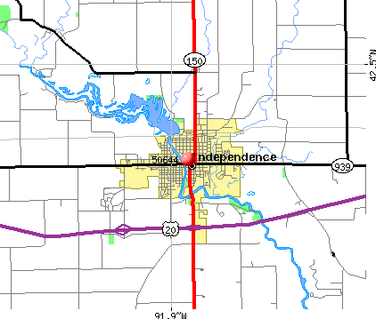 Independence, IA (50644) map