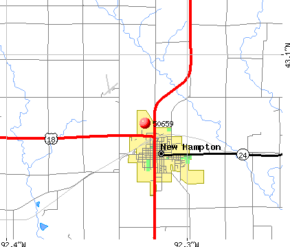 New Hampton, IA (50659) map