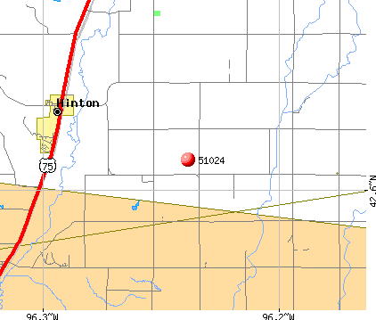 Hinton, IA (51024) map
