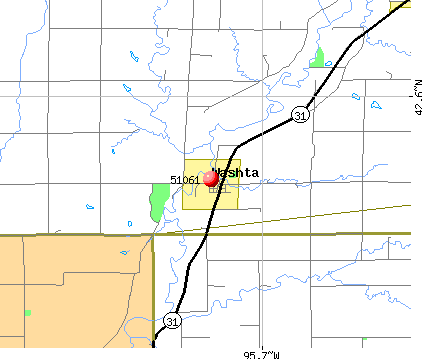 Washta, IA (51061) map