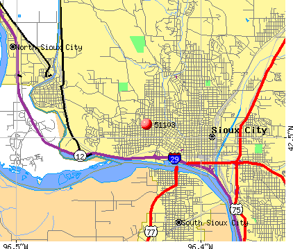 Sioux City, IA (51103) map