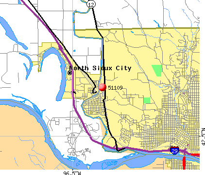 Sioux City, IA (51109) map