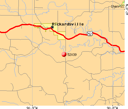 Rickardsville, IA (52039) map