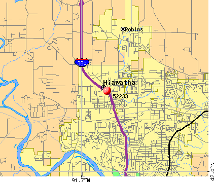 Hiawatha, IA (52233) map