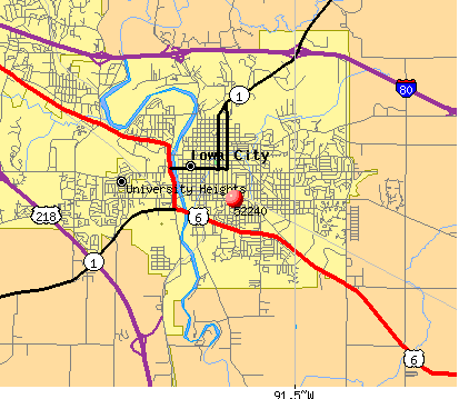 Iowa City, IA (52240) map