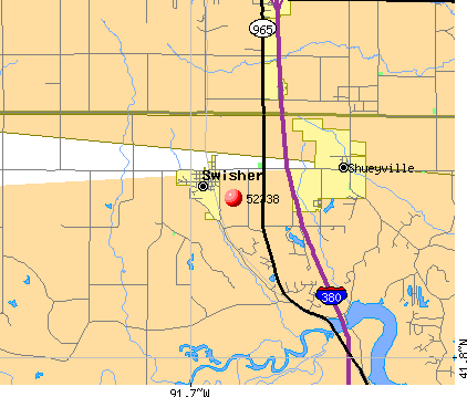 Shueyville, IA (52338) map