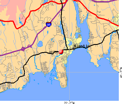 Niantic, CT (06357) map