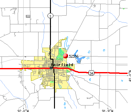 Fairfield, IA (52556) map