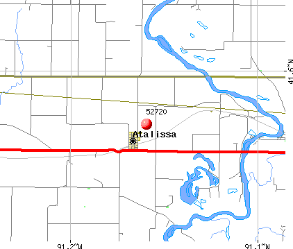 Atalissa, IA (52720) map
