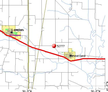 Wheatland, IA (52777) map