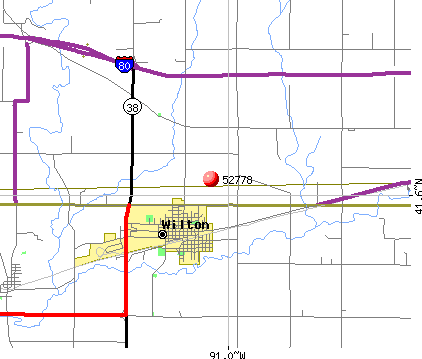 Wilton, IA (52778) map
