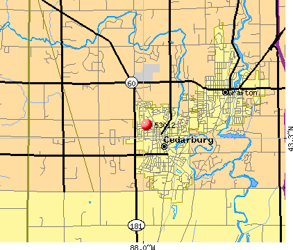 Cedarburg, WI (53012) map