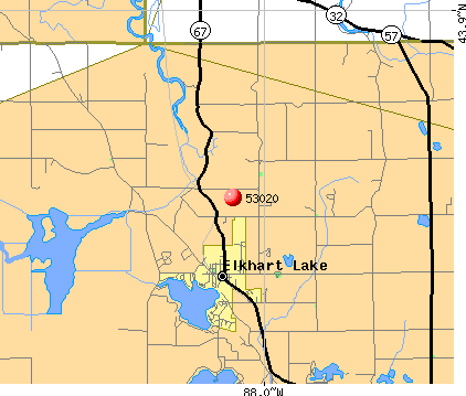Elkhart Lake, WI (53020) map
