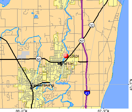 Grafton, WI (53024) map