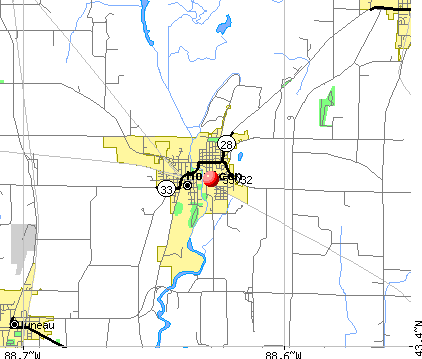 Horicon, WI (53032) map