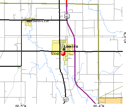 Lomira, WI (53048) map