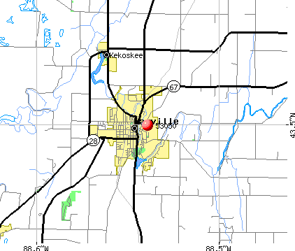 Mayville, WI (53050) map