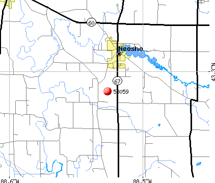 Neosho, WI (53059) map