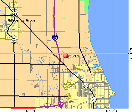 Sheboygan, WI (53083) map
