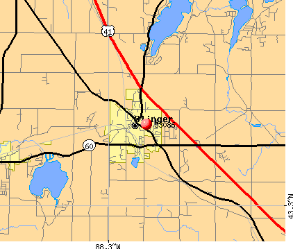 Slinger, WI (53086) map