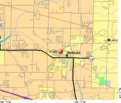 Sussex, WI (53089) map