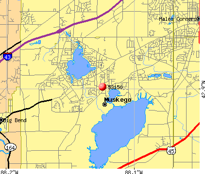 Muskego, WI (53150) map