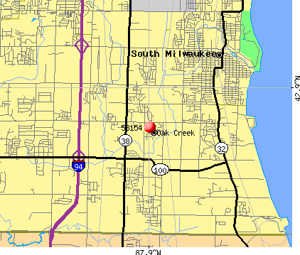 Oak Creek, WI (53154) map