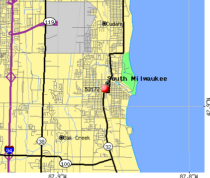 South Milwaukee, WI (53172) map