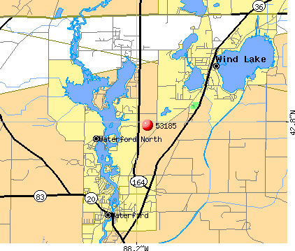Tichigan, WI (53185) map