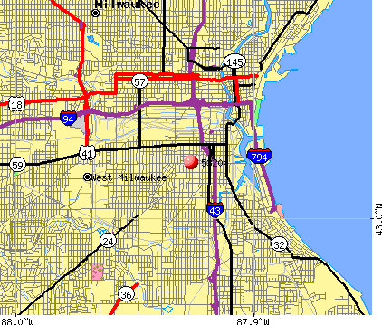 Milwaukee, WI (53204) map