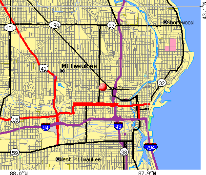 Milwaukee, WI (53205) map