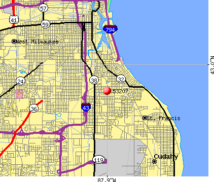 Milwaukee, WI (53207) map