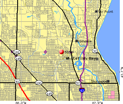 Milwaukee, WI (53209) map