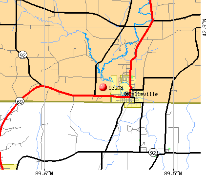 Belleville, WI (53508) map