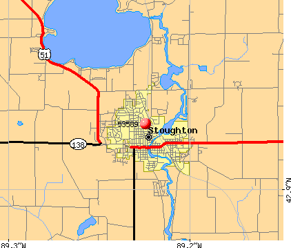 Stoughton, WI (53589) map