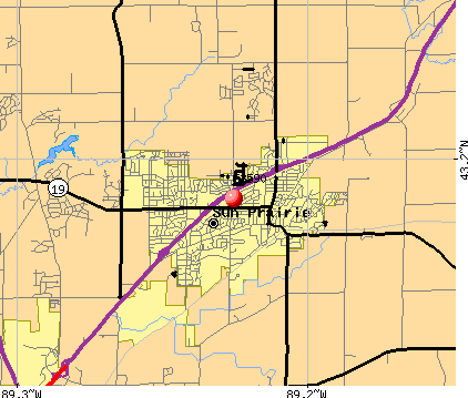 Sun Prairie, WI (53590) map
