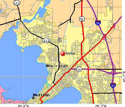 Madison, WI (53704) map