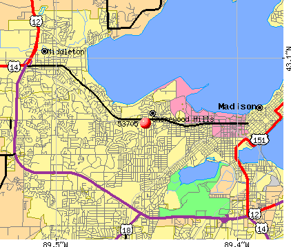 Madison, WI (53705) map