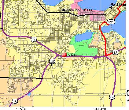 Fitchburg, WI (53711) map