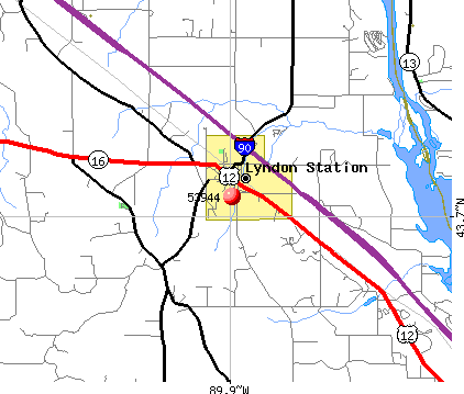 Lyndon Station, WI (53944) map