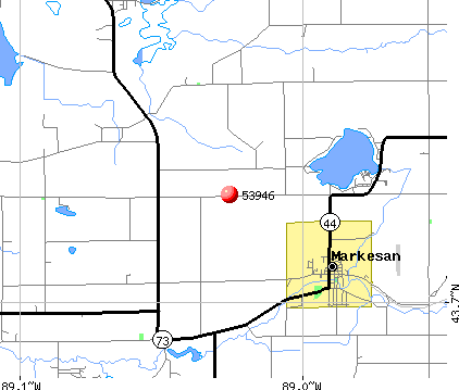 Markesan, WI (53946) map